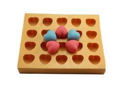 3D Heart Soap Mold Flexible Silicone Mould by Creativemouldshop