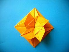 Easy origami square flower envelope with secret message inside origami art creativity scrisoare in floareorigami flower tatoo mightylinksfo