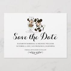 Mickey & Minnie Wedding Married Save the Date Card Disney World Wedding, Disney Inspired Wedding, Disney Weddings, Fairytale Weddings, Intimate Weddings, Hindu Weddings, Garden Weddings, Destination Weddings, Free Wedding