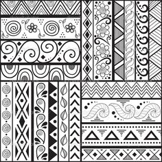 easy art patterns to draw for kids   Q Pattern