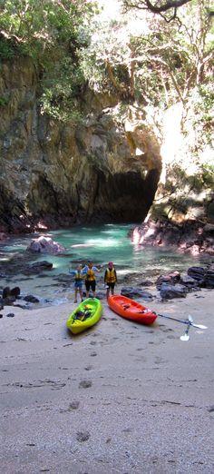 While in the Coromandel, kayak into Donut Island - Whangamata, New Zealand