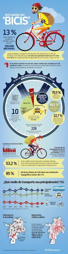 Infografía: todo lo que debe saber sobre las ciclorrutas en Cali   EL PAIS