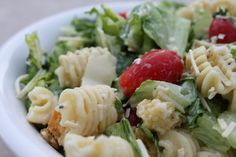 A Bountiful Kitchen: Caesar Pasta Salad - add chicken for delicious summer meal