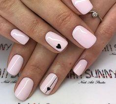 31 Amazing short nail design for fall - Nail Art Design - Manicure ideas 💅 Pink Nail Art, Cute Acrylic Nails, Cute Nails, My Nails, Fall Nails, Grow Nails, Spring Nails, White Shellac Nails, Summer Nails