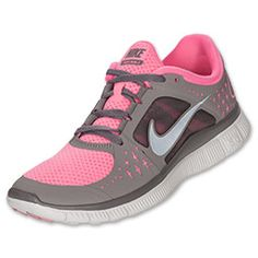 Interested in the barefoot running style, but want the protection of a traditional shoe? Grab a pair of the Women's NIke Free Run+ 3 Running Shoes! The low-profile midsole doubles as an outsole to drop some weight to keep your light on your runs.   A glove-like fit is created via 'fingers' of soft material that wrap around your midfoot and arch for a skin-like fit. Flex grooves along the length and width of the outsole enhance flexibility, help you maintain stability for a more natu...