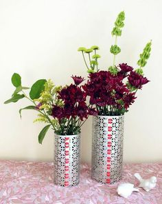 Easy DIY project: a vase built with M-D Metal Sheets. For more information on metal sheets go to http://www.mdteam.com/