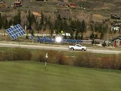 The Silverthorne Town Council unanimously voted to renew an agreement Wednesday with Sulas Industries, allowing the local start-up company to keep an experimental solar-panel array at North Pond Park. Solar Panels, The Locals, Assessment, Pond, Facade, Golf Courses, Water Pond, Solar Panel Lights, Sun Panels
