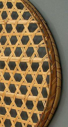 Bamboo Kaiko-zaru (Silkworm Basket) Detail to show construction