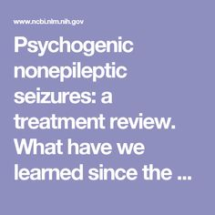 treating nonepileptic seizures therapist guide treatments that work