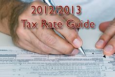 2012/2013 Tax Rate Guide to help you prepare your tax return.  Has information on standard mileage rates, corporate tax rate schedules, individual tax rate schedules, standard deductions, alternative minimum tax, gift tax annual exclusion and much more.
