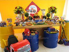 Bob o contrutor Construction Birthday Parties, Cars Birthday Parties, Construction Party, Fireman Birthday, 3rd Birthday, Bob The Builder, Hot Wheels, Party Themes, Vintage