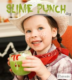 Slime Punch, anyone? These ghoulish beverage will be the talk of any Halloween party. It's THAT good!
