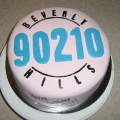 Beverly Hills 90210 cake! Perfect for a 90s theme party FAVE show still to this day <3