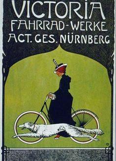 Victoria Fahrrad Werke Bicycle Vintage French Poster Wall Art giclee reproduction print on fine paper that will not fade. Available in different sizes, unframed or framed in black matte wood frame. Custom sizes available. Made in USA by Museum Outlets Vintage French Posters, Poster Vintage, Retro Posters, Bike Poster, Poster Art, Motorcycle Posters, Poster Design, Vintage Advertisements, Vintage Ads