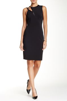 Asymmetric Cutout Sleeveless Fitted Dress by Halston Heritage on @nordstrom_rack