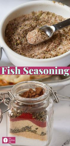Add some flavor to your fish dinners with this simple homemade fish seasoning. Made with a blend of dried spices and herbs, it's a great addition to your pantry and so easy to make! Fish Seasoning Recipe, Seasoning Mixes, Chicken Seasoning, Fish Supper, Fish Dinner, Oven Baked Fish, How To Make Fish, Easy Fish Recipes, Homemade Seasonings