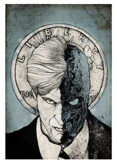 Two Face - Harvey Dent Created by Nicolas Côme Artist: Website || Behance || Twitter