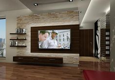 wall panels stone look living room furnishings living room wall decoration TV wall .:separator:wall panels stone look living room furnishings living room wall decoration TV wall . Living Room Wall Designs, Living Room Tv, Home And Living, Stone Wall Living Room, Modern Living, Living Area, Tv Wall Design, House Design, Drawing Room Wall Design