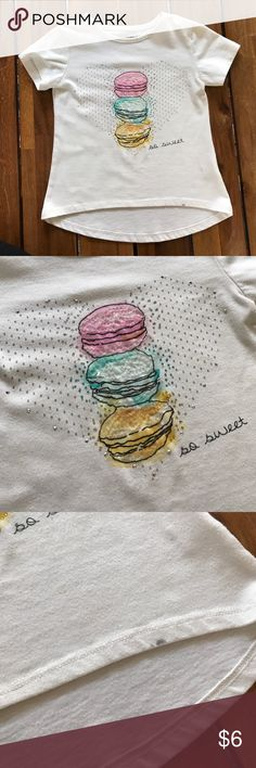 Girls Pink Elephant Tee Cute Macaroon Design // small mark on bottom (see pic) // high-low Shirts & Tops Tees - Short Sleeve