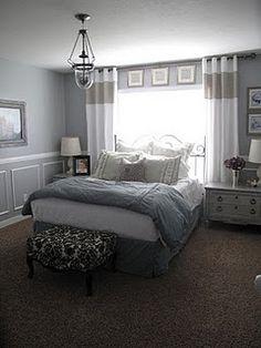 Trendy Bedroom Curtains Behind Bed Window Head Boards Gray Bedroom, Trendy Bedroom, Home Bedroom, Bedroom Wall, Master Bedroom, Bedroom Decor, Bedroom Curtains, Casual Bedroom, Ceiling Curtains