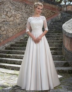 Sincerity wedding dress style 3877 | This Grace Kelly inspired ball gown…
