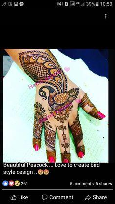Peacock Mehndi Designs, Indian Mehndi Designs, Mehndi Designs 2018, Mehndi Designs For Girls, Mehndi Design Photos, Beautiful Mehndi Design, Peacock Design, Bridal Mehndi Designs, Henna Designs