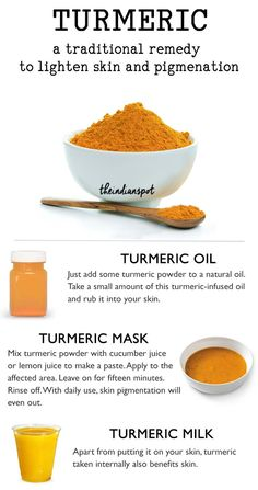 Tumeric - A natural remedy for skin pigmentation beauty guru Home Remedies For Acne, Skin Care Remedies, Acne Remedies, Health Remedies, Natural Remedies, Organic Skin Care, Natural Skin Care, Natural Facial, Organic Beauty