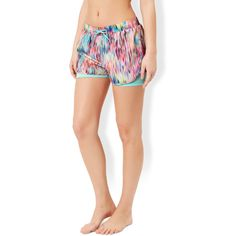 Accessorize Rainbow Rain Shorts ($39) ❤ liked on Polyvore featuring activewear and activewear shorts