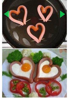 Wienerli-Herz mit Spiegelei