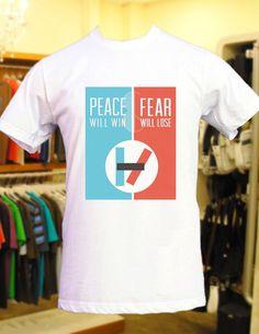 peace will win fear will lose twenty  one  pilots by freesunflower