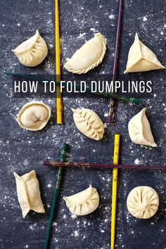 An easy-to-follow video tutorial on dumpling folding methods. 10 patterns covering all levels of skill. Extra tips to make your attempts to fold dumplings fail-proof.  #redhousespice Easy Cooking, Cooking Recipes, Cooking Hacks, Easy Asian Recipes, Thai Recipes, Drink Recipes, Yummy Recipes, Asian Buns, Chinese Bbq Pork
