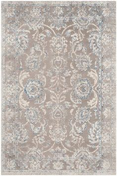 Safavieh Patina X Rectangle Synthetic Power Loomed Floral Area Ru Taupe / Blue Rugs Area Rugs Patina Style, Rugs Online, Blue Area Rugs, Blue Rugs, Carpet Runner, Family Room, Home Decor, Living Room, Condo Living