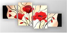 Hanna Deco Artesanal | Cuadro Flores | Online Store Powered by ... Multi Canvas Painting, Canvas Art, Flower Canvas, Flower Art, Art Floral, Diy Wall Art, Wall Art Decor, Dinning Room Art, Halloween Canvas