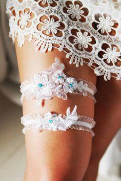 Wedding Garter Bridal Garter Lace Garter  Something by NAFEstudio