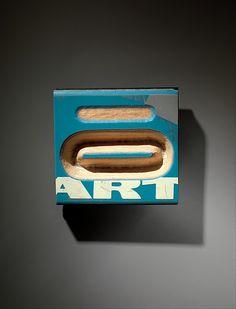 """""""Art"""" Brooch by Pavel Opocenský (Czech, born Karlovy Vary, 1954) Date:1988–1989 Medium:Carved wooden skis."""