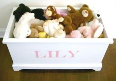 Open toy box.  - DIY plans