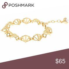 """Last chance! Ted Baker Gold Gem Frame Bracelet New with tag! Ted Baker """"Jeannie"""" Gold Gem Frame Bracelet  -color: gold -gold gem frame bracelet with 1 Swarovski crystal Ted Baker London Jewelry Bracelets"""