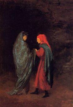 Edgar Degas, 1857-1858, Dante en Vergilius aan de ingang van het Inferno