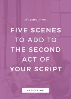 Without a doubt, writing the second act of any type of story is incredibly difficult, but writing the second act of screenplay is often even harder simply because every single scene must count. second act act two screenplay screenwriting tips sc Script Writing, Book Writing Tips, Writing Process, Writing Resources, Writing Help, Writing Workshop, Writing Ideas, Tv Writing, Writing Skills