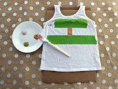 Cover up a stubborn stain on kids clothes with clever use of craft paint >> http://blog.diynetwork.com/maderemade/2013/08/05/trash-into-treasure-toddler-clothes?soc=pinterest