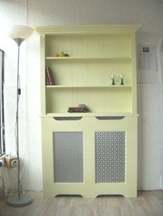 I love this idea! Two of them with a bench in between equals a kitchen nook with display shelves!