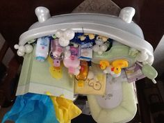 Bathtub Baby Shower Gift (photo only). Baby Shampoo, Baby Wash, Baby Lotion, Baby Oil, Baby Powder, Desitin, Q-tips, Washclothes, Rubber Duckies, and Hooded Towel in a Baby Tub, and a Book for Baby. Baby Shampoo, Baby Lotion, Baby Must Haves, Baby Shower Gifts For Boys, Baby Shower Parties, Diaper Crafts, Baby Tub, Newborn Diapers, Handmade Baby Gifts