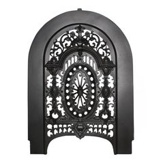 Gorgeous Antique Cast Iron Arched Summer Cover with Pierced Detailing Found on RubyLane.com