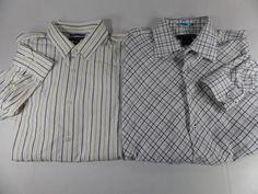 Lot Of 2 Banana Republic Mens Dress Shirt Slim Fit Spead Collar Size Large #BananaRepublic #DressShirt
