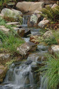 #waterfall #stream #watergarden