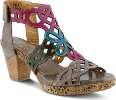 Womens LArtiste by Spring Step Marjan Sandal - Gray Multi Leather - FREE Shipping & Exchanges | Shoebuy.com