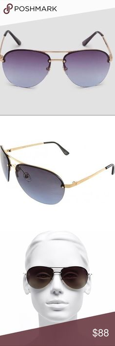 🌺NEW! MICHAEL Michael Kors Kai Aviator Sunglasses Featuring a classic design that is always in style, these Michael Kors sunglasses are the perfect finish to any sunny day look! Frame material: metal, Frame color: gold, Lens type: Non-polarized scratch/impact resistant plastic, Lens color: grey (gold), 100% UVA/UVB protection, Case and logo dust cloth included, Imported, NEW with tags. Retail: $199 MICHAEL Michael Kors Accessories Sunglasses