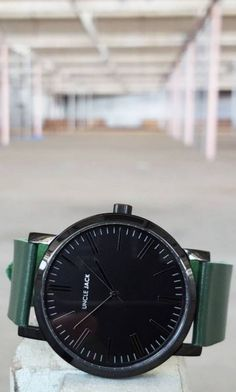 The latest addition to the Uncle Jack range. It's a sleek upgrade of our original Cargo-Black with an urban black dial and black case. It goes perfectly with our dark green cargo strap. It's definitely an essential for your Uncle Jack collection!