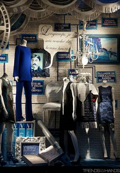 ♂ Commercial space retail store design visual merchandising window display Bergdorf Goodman