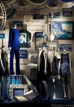 ♂ Commercial space retail store design visual merchandising window display Bergdorf Goodman